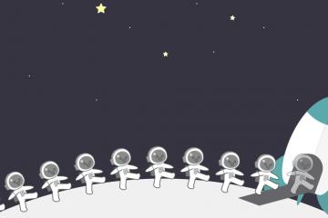 网站404页面太空漫步动画源码