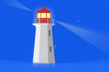 一个酷炫的灯塔404动态网页
