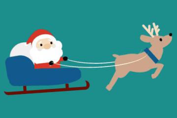圣诞老人滑雪橇404错误动态网页