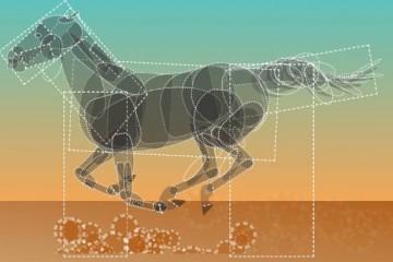 骏马奔驰的网页特效动画