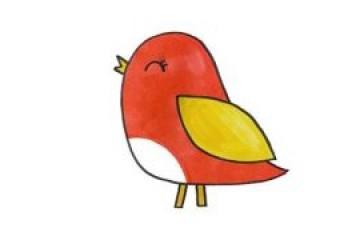 小鸟怎么画,幼儿园小鸟简笔画教程